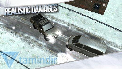 Winter Traffic Car Driving 3D Ekran Görüntüleri - 1