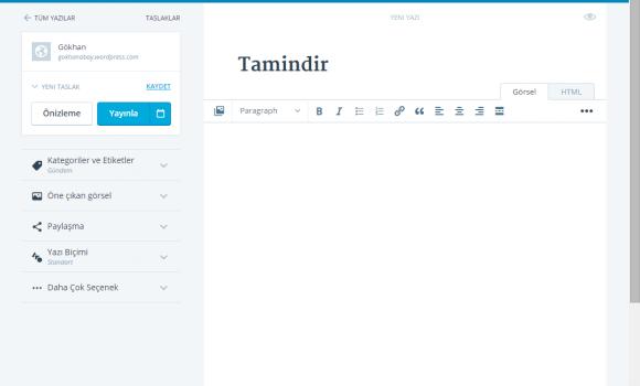 Wordpress Desktop Ekran Görüntüleri - 3