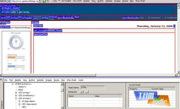 Internet Explorer Developer Toolbar Ekran Görüntüleri - 1