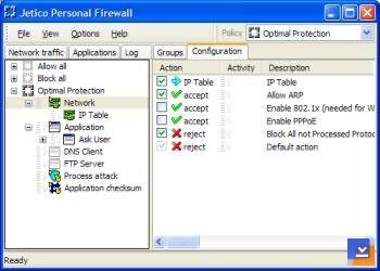 Jetico Personel Firewall Ekran Görüntüleri - 1