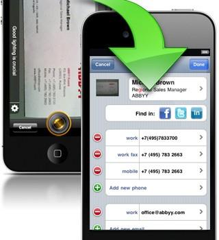 ABBYY Business Card Reader Ekran Görüntüleri - 1