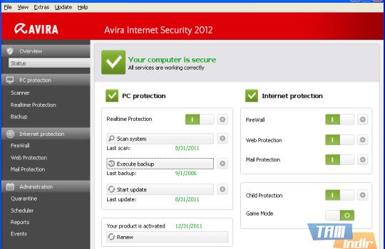 Avira Internet Security Ekran Görüntüleri - 2