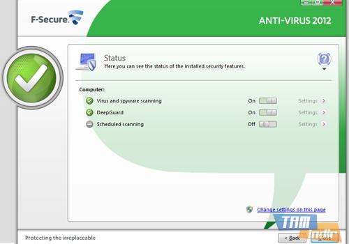 F-Secure Anti-Virus Ekran Görüntüleri - 3