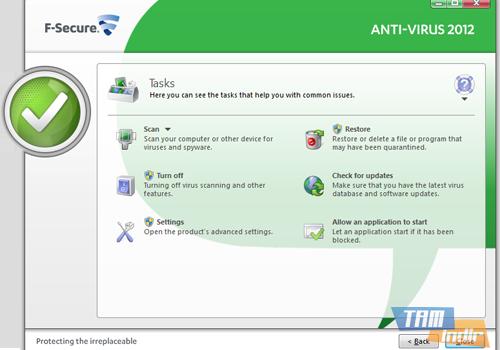 F-Secure Anti-Virus Ekran Görüntüleri - 1