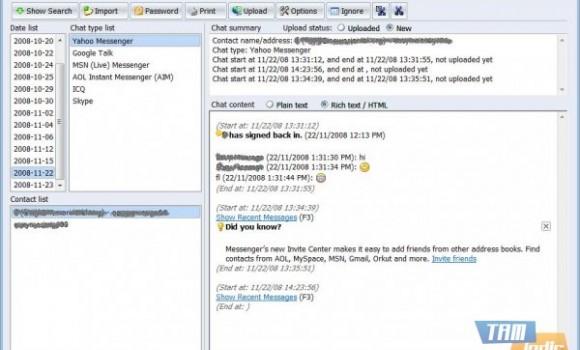 MessengerLog 360 Ekran Görüntüleri - 1