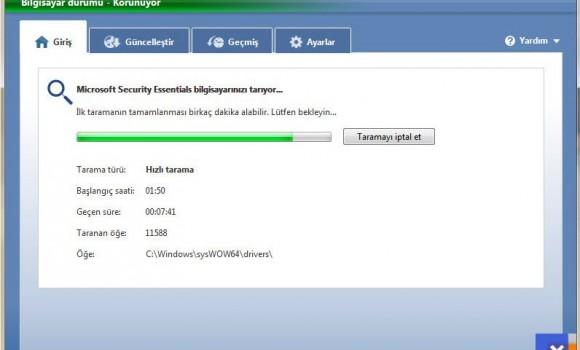 Microsoft Security Essentials Ekran Görüntüleri - 1
