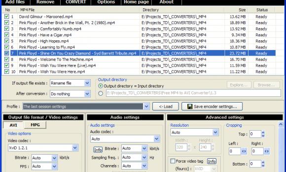 Pazera Free MP4 to AVI Converter Ekran Görüntüleri - 1