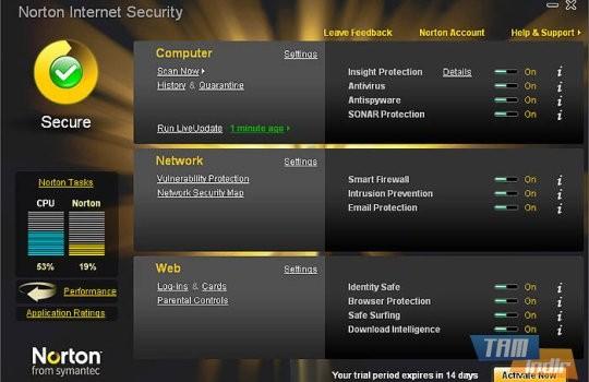 Norton Internet Security Ekran Görüntüleri - 1