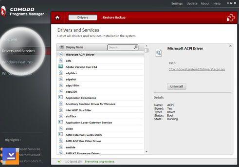 Comodo Programs Manager Ekran Görüntüleri - 3