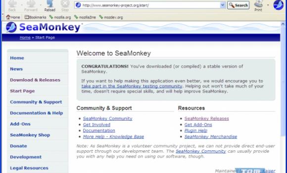 SeaMonkey Ekran Görüntüleri - 2