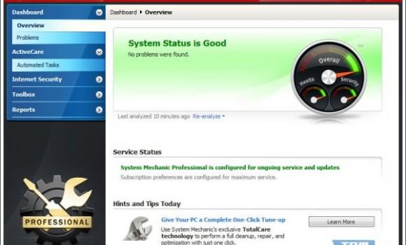System Mechanic Professional Ekran Görüntüleri - 1