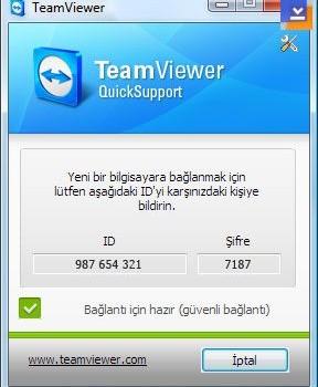 TeamViewer QuickSupport Ekran Görüntüleri - 1