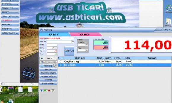 Usb-Ticari Cari Stok Aidat Taksit Programı Ekran Görüntüleri - 1