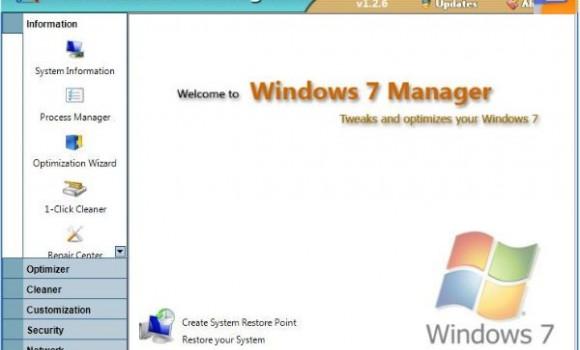 Windows 7 Manager Ekran Görüntüleri - 1