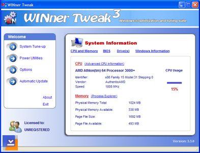 WINner Tweak 3 Pro Ekran Görüntüleri - 1