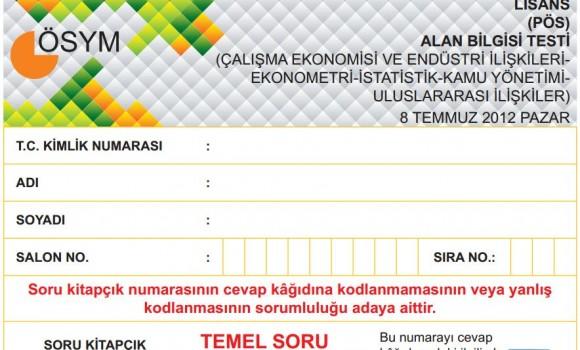 2012 KPSS Alan Bilgisi Testi Soruları ve Cevapları Ekran Görüntüleri - 1