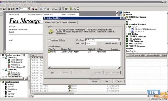 Actfax Server Ekran Görüntüleri - 2