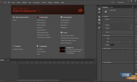 Adobe Flash Professional CC Ekran Görüntüleri - 1