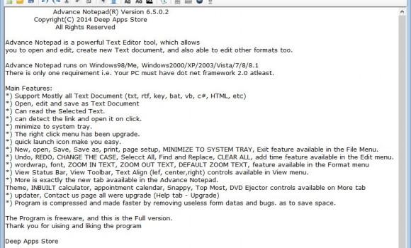 Advance Notepad Ekran Görüntüleri - 4