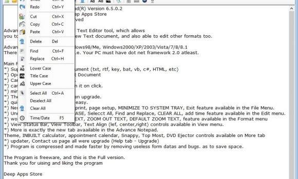 Advance Notepad Ekran Görüntüleri - 3
