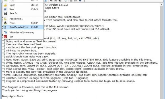 Advance Notepad Ekran Görüntüleri - 1
