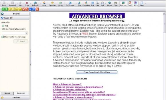 Advanced Browser 8.02 Ekran Görüntüleri - 1