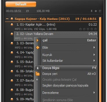 AIMP Ekran Görüntüleri - 2