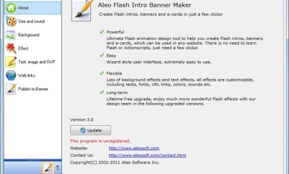 Aleo Flash Intro Banner Maker Ekran Görüntüleri - 1
