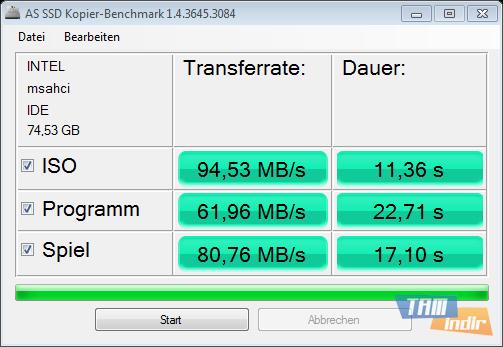 AS SSD Benchmark Ekran Görüntüleri - 2