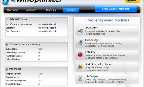 Ashampoo WinOptimizer Free Ekran Görüntüleri - 1