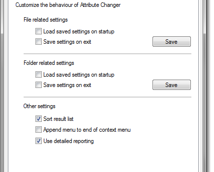 Attribute Changer Ekran Görüntüleri - 1