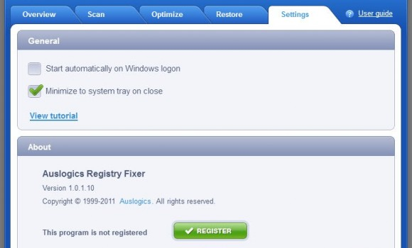 AusLogics RegistryFixer Ekran Görüntüleri - 1