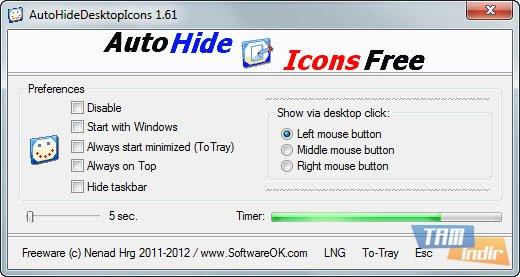 AutoHideDesktopIcons Ekran Görüntüleri - 1