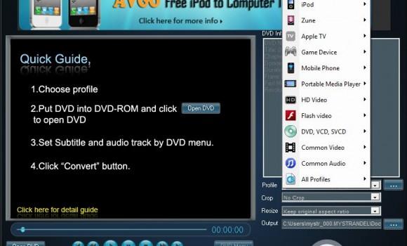 AVGO Free DVD Ripper Ekran Görüntüleri - 1