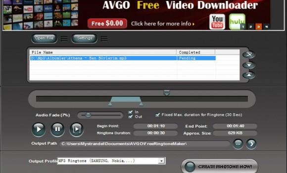 AVGO Free Ringtone Maker Ekran Görüntüleri - 1