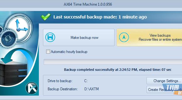 AX64 Time Machine Ekran Görüntüleri - 1