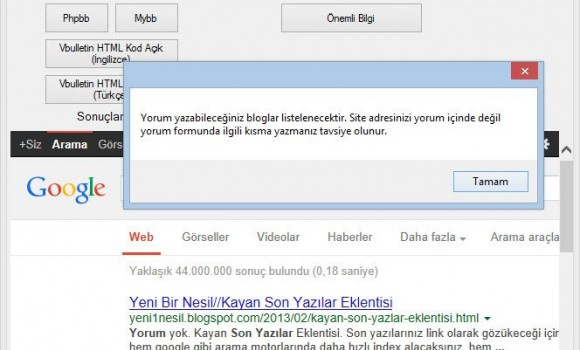 Bilhos Backlink Oluşturucu Ekran Görüntüleri - 1