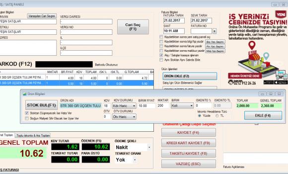 Bilsoft Cari Takip Ön Muhasebe Programı Ekran Görüntüleri - 3