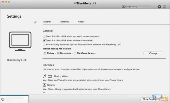 BlackBerry Link Ekran Görüntüleri - 2
