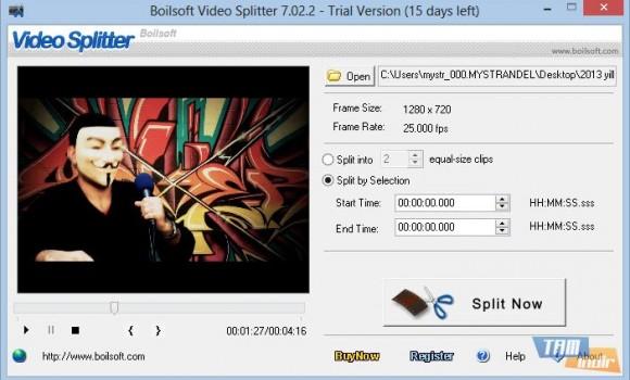 Boilsoft Video Splitter Ekran Görüntüleri - 3