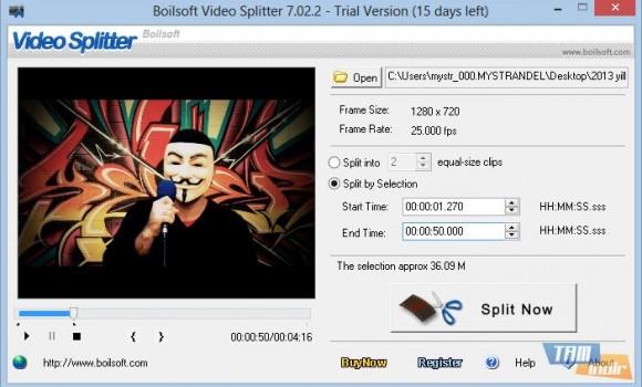Boilsoft Video Splitter Ekran Görüntüleri - 2