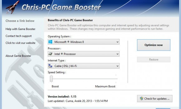 Chris-PC Game Booster Ekran Görüntüleri - 3