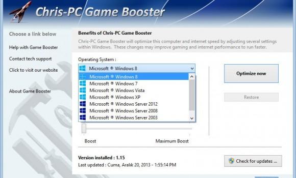 Chris-PC Game Booster Ekran Görüntüleri - 2