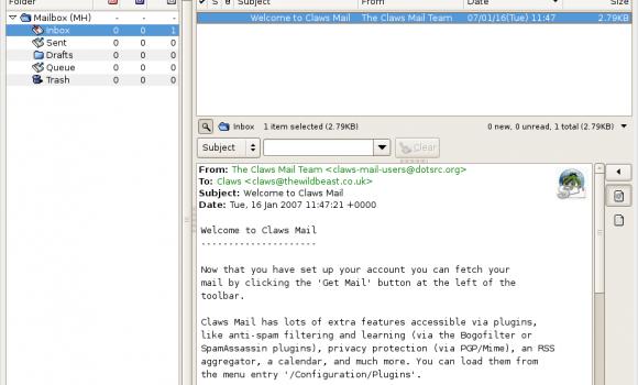 Claws Mail Ekran Görüntüleri - 5