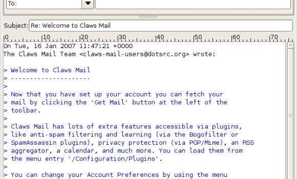 Claws Mail Ekran Görüntüleri - 4