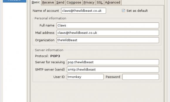 Claws Mail Ekran Görüntüleri - 1