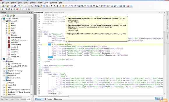 CodeLobster PHP Edition Ekran Görüntüleri - 1