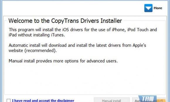 CopyTrans Drivers Installer Ekran Görüntüleri - 2