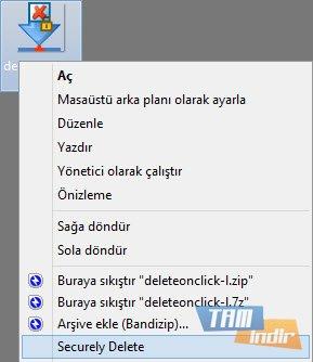 DeleteOnClick Ekran Görüntüleri - 1