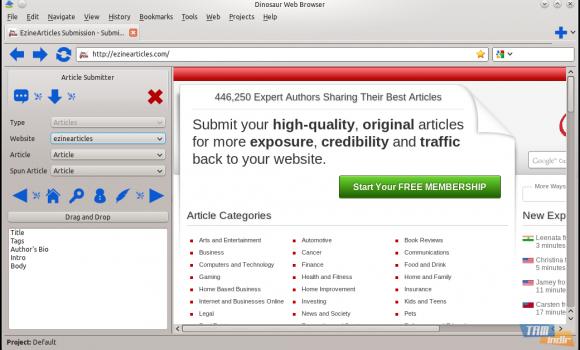 Dinosaur Web Browser Ekran Görüntüleri - 3
